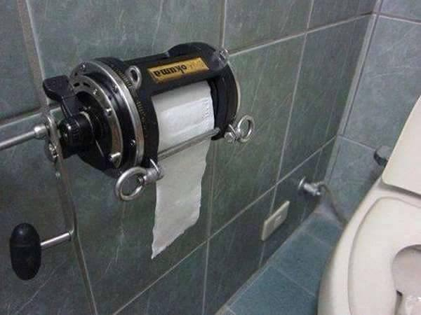 Mans toilet paper holder hot product reviews and for Fishing reel toilet paper holder