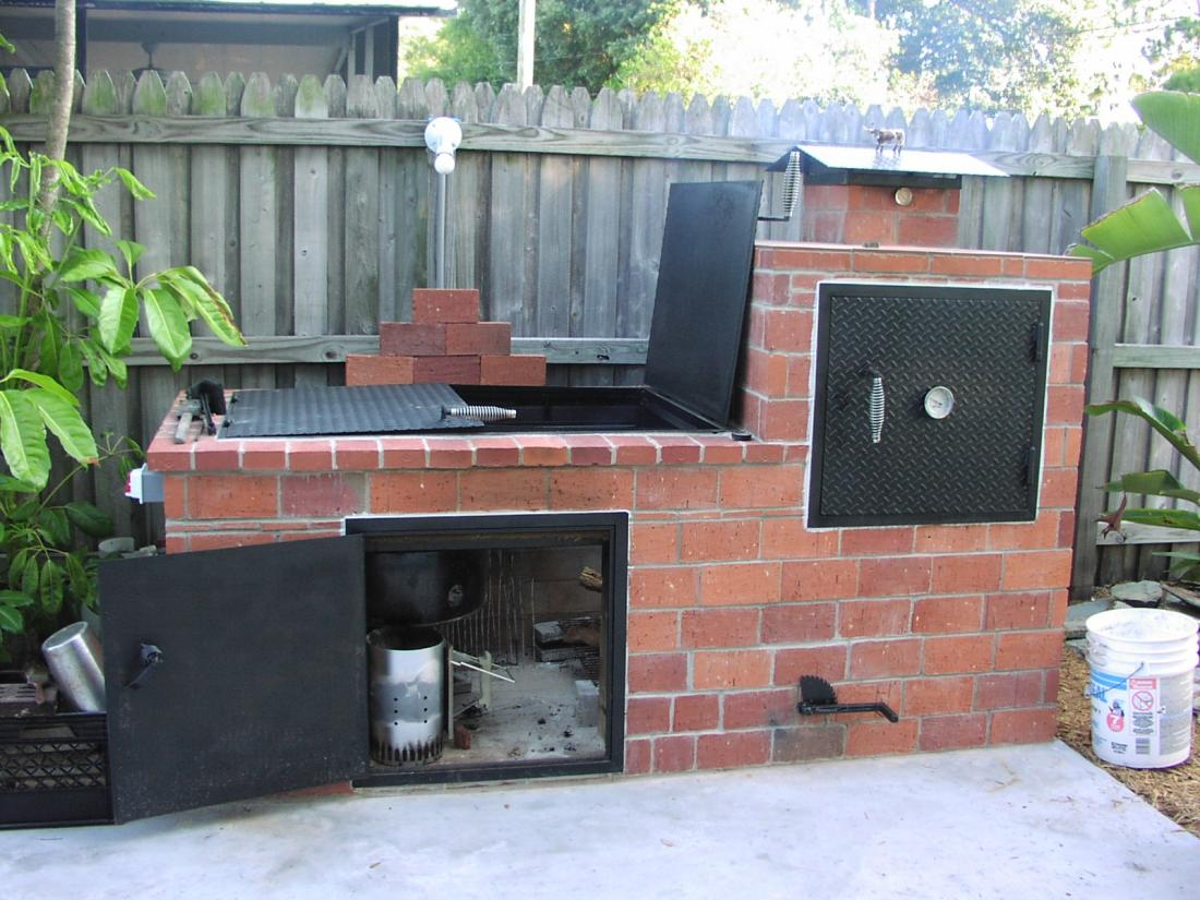 brick built smoker grills and smokers the hot pepper. Black Bedroom Furniture Sets. Home Design Ideas